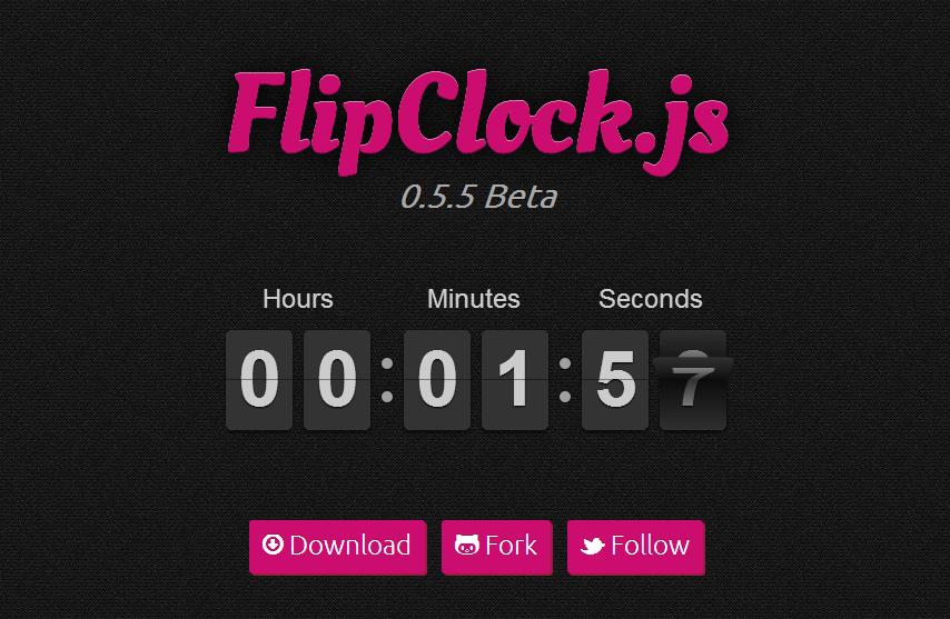 FlipClock.js — еще один симпатичный таймер отсчета времени на базе jQuery