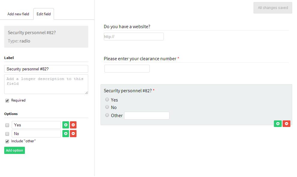 Formbuilder — простой пользовательский интерфейс для генерации формы