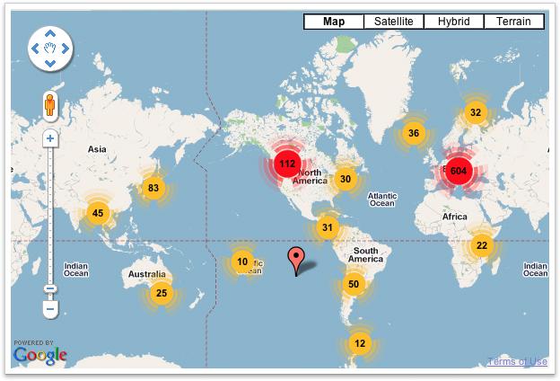 Кластеризация в Google Maps