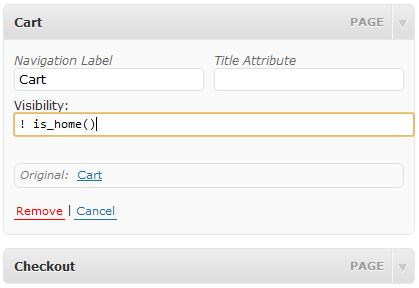 Menu Item Visibility Control — условная логика отображения пунктов меню в WordPress