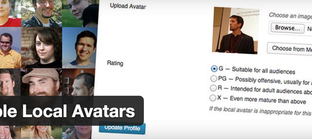 Simple Local Avatars  — возможность использовать аватр для пользователей на сайте WordPress