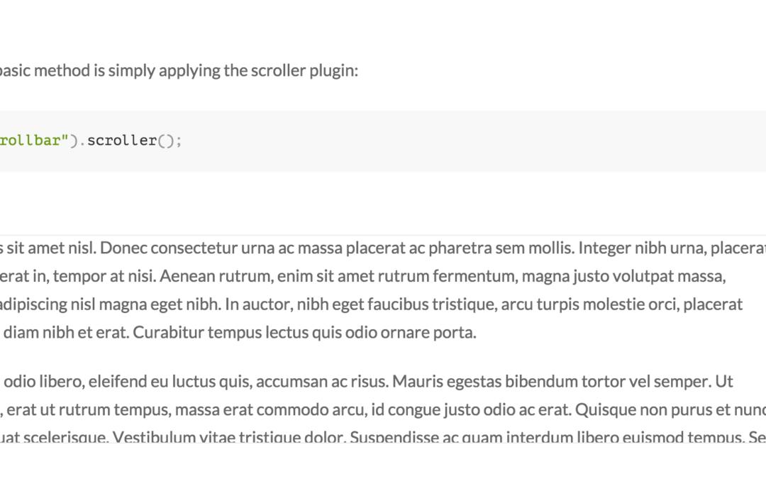 Scroller — интересный jQuery-плагин для создания блоков вертикального и горизонтального скроллинга на страницах