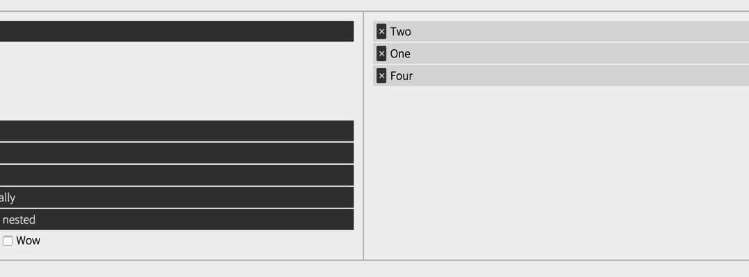 jQuery Tree Multiselect — древовидный мультиселект