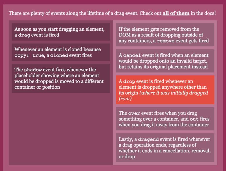 dragula — Drug&Drop перетаскивание блоков (карточек) между списками