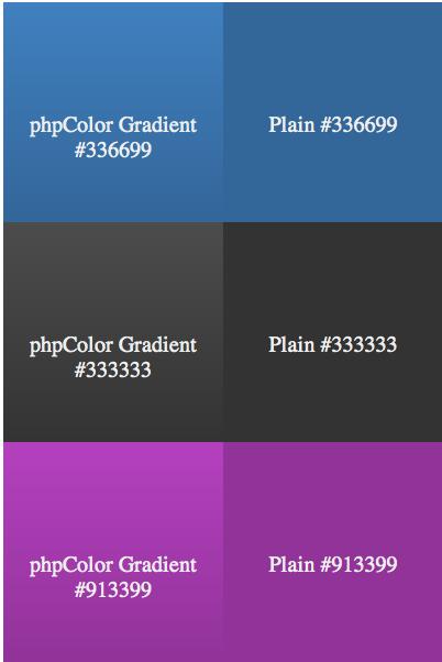 phpColors — работа с цветами через php