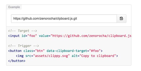 clipboard.js — копирование в буфер обмена без Flash