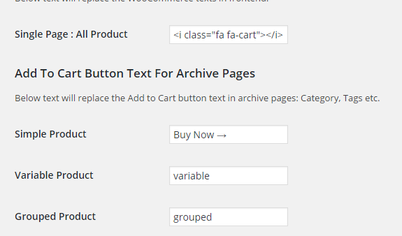 Change WooCommerce Add To Cart Button Text