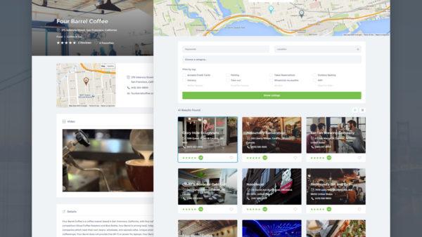 Listify — тема каталога организаций с картой