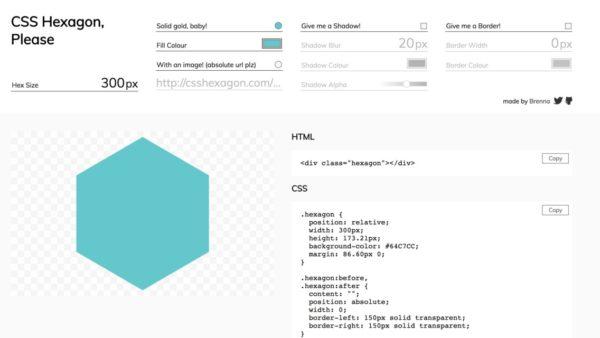 CSS Hexagon Generator
