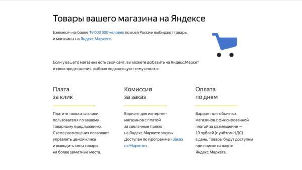 Яндекс.Маркет для магазина