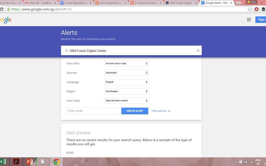 Google Alerts — позволяет отследить все новые материалы по заданным темам