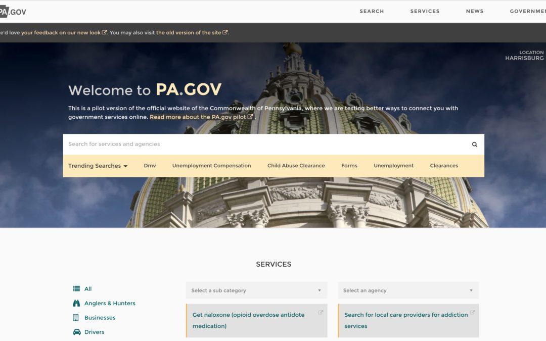 Удобный сайт государственного органа на WordPress (Правительство Пенсильвании)
