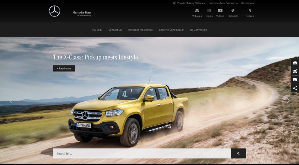 Mercedes Benz сделали свой сайт на WordPress