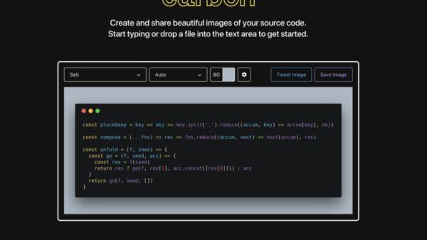 Carbon — оформление кода для презентаций и статей