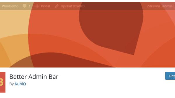 Better Admin Bar